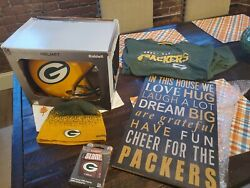 Green Bay Packers Aunthentic Helmet T shirthatgaming Cardsand A Frame $300.00
