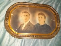 1930s Vintage Oil Painting Couple $200.00