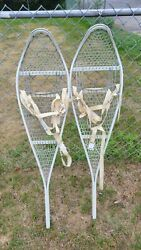 Vintage 1980#x27;s Aluminum and Cable Snowshoes Military Sports Functional or Decor $149.99