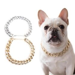 Neck Accessory Puppy Gold Adjustable Jewelry Small Dog Chain Collar Pet Necklace $9.99