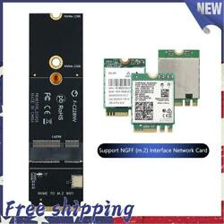 M.2 M Key to NGFF A E Key Slot PCIe WiFi Card Adapter for AX200 9260AC $11.87