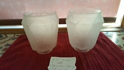 2 two art deco vintage glass light globes 2 1 4 inch fitter $20.00