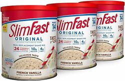 Slimfast Original French Vanilla Meal Replacement Weight Loss Powder Pack Of 3 $32.99