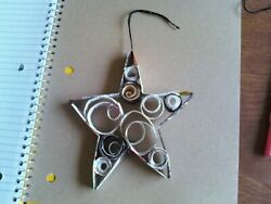 Recycled magazine ornaments a paper Star Model made from recycled paper $0.99