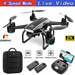 D50 Selfie Drones with 2K UHD FPV Camera quadcopter Live Video drone2 batteries $79.99