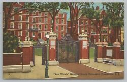 Providence Rhode Island Can Wickle Gates Of Brown University Vintage Postcard $2.00