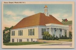 Watch Hill Rhode Island Front View Of Union Chapel Vintage Postcard $2.00