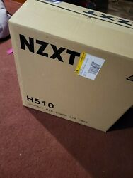 NZXT H510 Compact ATX Mid Tower PC Gaming Case White Black $45.00