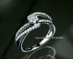 Just Married - 18K(750) White Gold Exquisite Diamond Design Ring