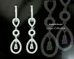 Circles - 18K(750) white gold exquisite diamond design earrings  pendant