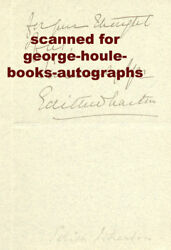 EDITH WHARTON~LETTER~ SIGNED - -884  PARK AVENUE NEW YORK CITY -OUT OF TOWN