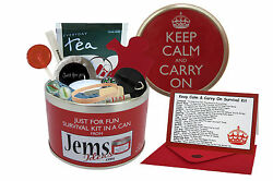 KEEP CALM amp; CARRY ON SURVIVAL KIT IN A CAN. Novelty Birthday Christmas Gift Card GBP 11.95