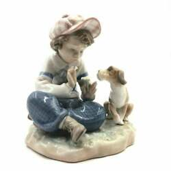 LLADRO #5450 I HOPE SHE DOES BRAND NIB RARE BOY DOG LOVE $175 OFF FREE SHIPPING