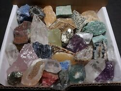 Crafters Rock Collection 1 Lb Mix Gems Crystals Natural Minerals Specimens $24.95