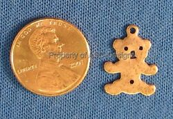50pc Antique Copper Plated Solid Cuddly Kids Teddy Bear Charm 6077 $5.29