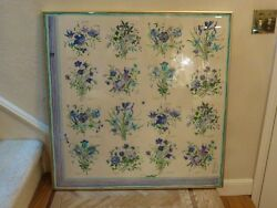 Vintage framed Gucci Silk Scarf FLORAL   Style Theme   UNDER GLASS