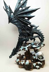 Large Black Dragon with Little White Dragon Snow Decor Figurine 18quot; Tall Statue $73.99