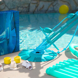 XtremepowerUS Automatic Suction Swimming Pool Vacuum Climb Wall Pool Cleaner Set $95.95