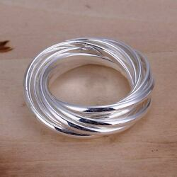 beautiful Fashion solid silver Pretty cute party circle Ring jewelry wedding $1.45