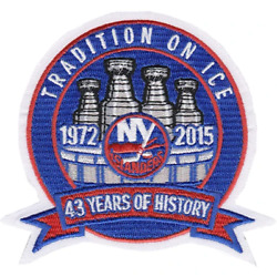 2014 2015 New York Islanders 43rd Year Last Season Jersey Logo Patch NHL Hockey