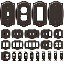 Switch Plate Outlet Cover Rocker Toggle Light Wall Plate - Oil Rubbed Bronze $3.79