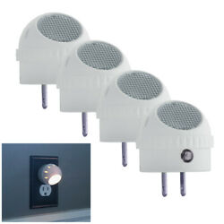 4 Pack LED Night Light Plug in with Auto Sensor Photocell White $11.99
