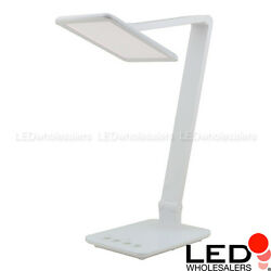 Smart Touch 10W Edge-Lit LED Desk Lamp Color Temperature Adjustable 2700k-6500K