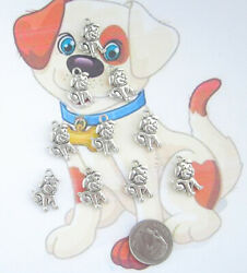 10 NEW TIBET SILVER quot; DOGquot; CHARMS VERY CUTE $2.15