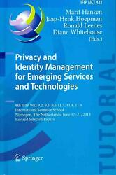 Privacy and Identity Management for Emerging Services and Technologies: 8th IFIP