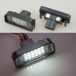2x Error Free LED License number Plate Light For MERCEDES W220 S class 1999-2005