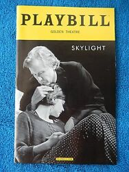Skylight - Golden Theatre Playbill - March 2015 - Carey Mulligan - Bill Nighy