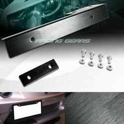 For Mazda Toyota Black Aluminum Front License Plate Mount Relocate Bracket Kit