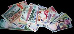 100 Different world banknotes-money currency bills $32.99