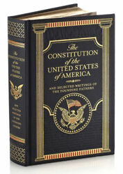THE CONSTITUTION OF THE UNITED STATES OF AMERICA amp; WRITINGS LeatherBound SEALED $35.97