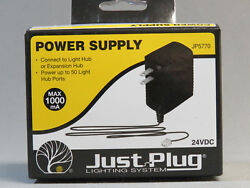 WOODLAND SCENICS POWER SUPPLY FOR JUST PLUG LIGHTING SYSTEM wds 24 VDC WDS5770 $14.84