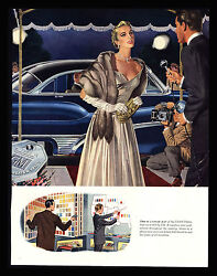 Original 1950 GENERAL MOTORS NIGHTLIFE- CAMERAS - MOVIE STAR -  VINTAGE PRINT AD