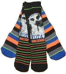 Boys Slipper Socks Two Pack Meerkat Mischief Gripper Soles Four sizes GBP 3.75