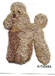 Brown Poodle Dog Breed Embroidery Patch $2.99