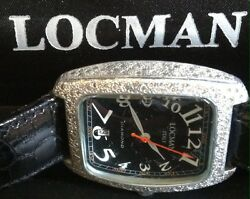 Authentic Womens 488 black Locman factory real diamond Leather Band  Watch