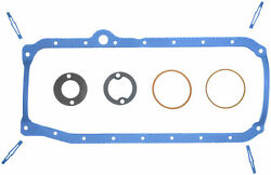 Fel Pro oil Pan Gasket SBC os34500r 1pc 1986 - 2002 Molded Rubber reusable
