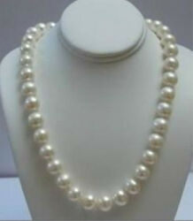 Beautiful Natural 9 10MM White Akoya Pearl Necklace 18quot; 14K Gold Clasp AA $13.99