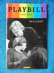 Skylight - Golden Theatre Playbill - June 2015 - Carey Mulligan - Bill Nighy
