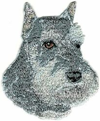 2.75quot; Grey Gray Schnauzer Dog Breed Embroidery Patch $3.18