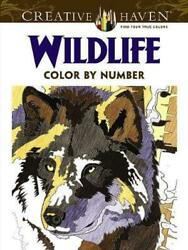Creative Haven Wildlife Color by Number Coloring Book by Diego Jourdan Pereira (