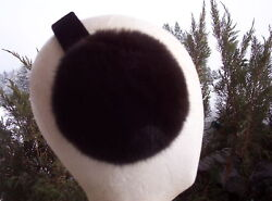 New MAHOGANY Mink Fur Earmuffs;fur hat headband $47.95