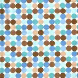 05752 Boys Are Made of Blue Teal Tan Dots - Flannel Quarter Yard