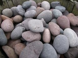Mexican Beach Pebbles - Red (1 pallet) - decorative landscape stone-bulk-rock