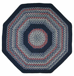 Pioneer Valley II Olympic Blue with Dark Blue Solids Multi Octagon Outdoor Rug