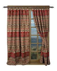 Carstens Inc. Adirondack Bear and Moose Cabin Single Curtain Panel