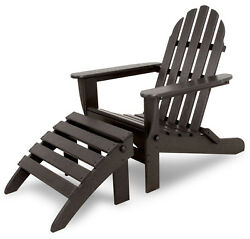 Ivy Terrace Ivy Terrace Classics Plastic Folding Adirondack Chair with Ottoman